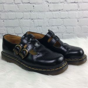 Dr. Martens Black Leather Mary Janes 10909 Size 7